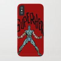 superhero iPhone & iPod Cases featuring SuperHero by Logan_J