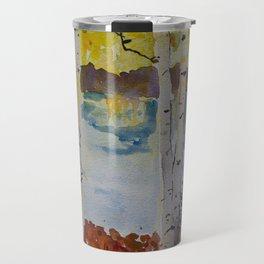 Watercolor Aspen Travel Mug