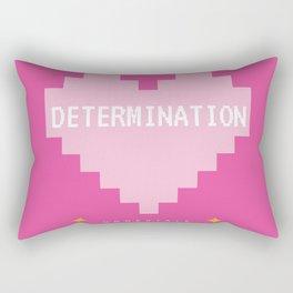 Pink Kawaii Undertale Determination pixel heart Rectangular Pillow