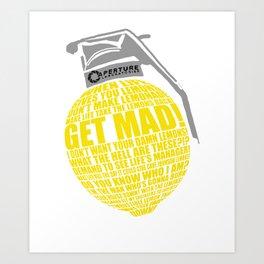 Portal 2 combustible lemon quote Art Print