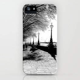 River Thames Path Art Sketch iPhone Case
