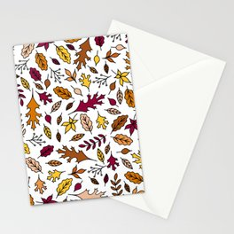 Autumn Leaves || Fall Leaves || Maple Leaves || Oak Leaves Stationery Cards