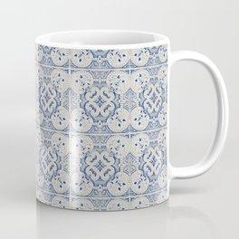 Vintage blue tiles pattern Coffee Mug