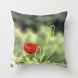 One Poppy Throw Pillow