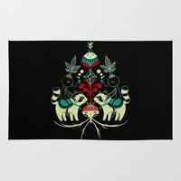 racoon Area & Throw Rugs featuring Mandragora and racoon. by Fio Zenjim