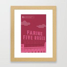 Made in MTL 0004: Five Roses Framed Art Print
