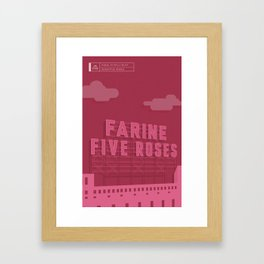 Made in MTL 0004: Five Roses Framed Art Print