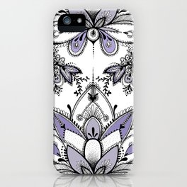 Lavender Paisley iPhone Case