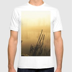 fog upon the river White MEDIUM Mens Fitted Tee