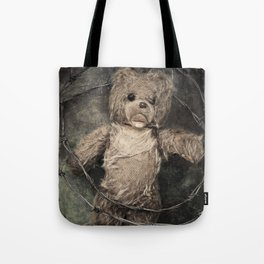 trapped teddy bear Tote Bag