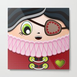 Pirate Princess Metal Print