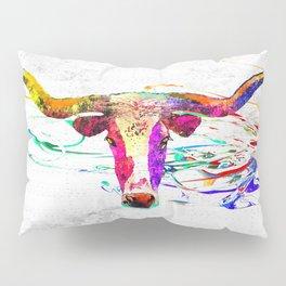 Longhorn Grunge Pillow Sham