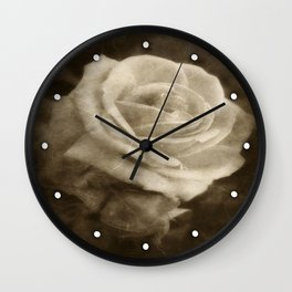 Pink Roses in Anzures 2 Antiqued Wall Clock