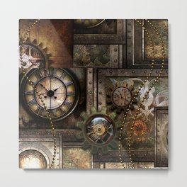 Steampunk, wonderful clockwork with gears Metal Print