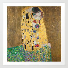 Gustav Klimt The Kiss Art Print