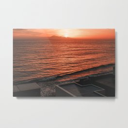 Sunset in La Palma island with Teide volcano in the background Metal Print