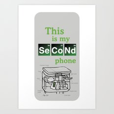 Second Phone Art Print