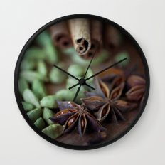 Chai Spices Wall Clock
