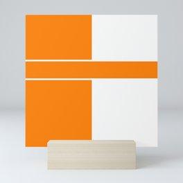 Team Color 6...orange,white Mini Art Print