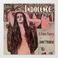 Indolence Vintage Art Canvas Print