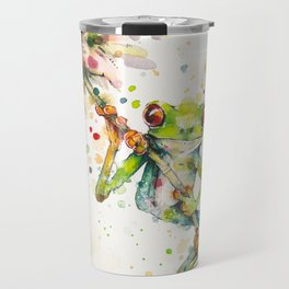 Hello There Bright Eyes (Green Tree Frog) Travel Mug