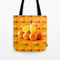 orange pattern Tote Bags featuring Orange Pattern by Azeez Olayinka Gloriousclick