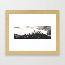 Lonely View Framed Art Print