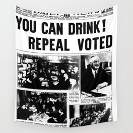 You Can Drink! 1933 Newspaper Prohibition Wall Tapestry