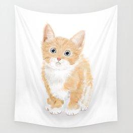 Cute Tiny Cat Wall Tapestry