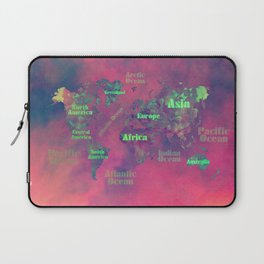 world map 116 #worldmap #map Laptop Sleeve