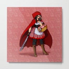 Serial Killer Red Riding Hood Metal Print