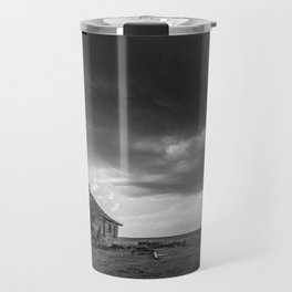 Sweeping Down the Plains - Abandoned House and Storm in Oklahoma Travel Mug