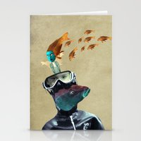 submarine Stationery Cards featuring SUBMARINE by Momenti Riciclati