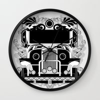 jeep Wall Clocks featuring jeep ni erap by cocoyponce