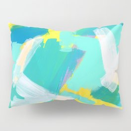 Be Kind, Be OK - mint modern mint abstract painting pastel colors Pillow Sham