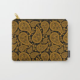Paisley (Orange & Black Pattern) Carry-All Pouch