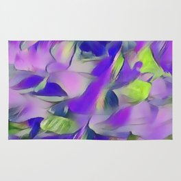 Heavenly Rose Petals Abstract - Purple Rug