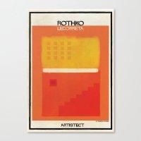 rothko Canvas Prints featuring Rothko+legorreta by federico babina