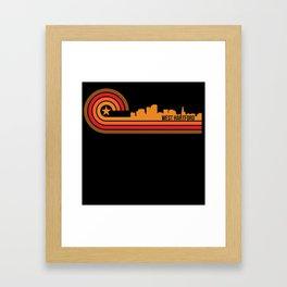 Retro Style West Hartford Connecticut Skyline Framed Art Print