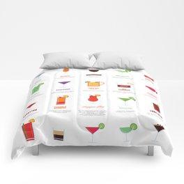 Classic Cocktails Print Art Poster | Drink Recipes | Bar Poster | Bar Art | Kitchen Art | Alcohol Comforters