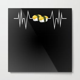 Heartbeat Heart Food Roll Ingredients Metal Print