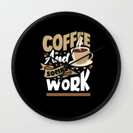 Social Worker Coffee Wall Clock