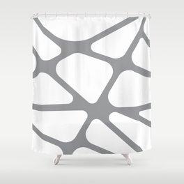Unique gray and white organic design Shower Curtain