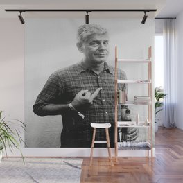 Anthony Bourdain middle finger and drinking beer Wall Mural