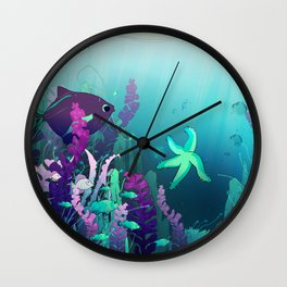 Deep down in the water Wall Clock