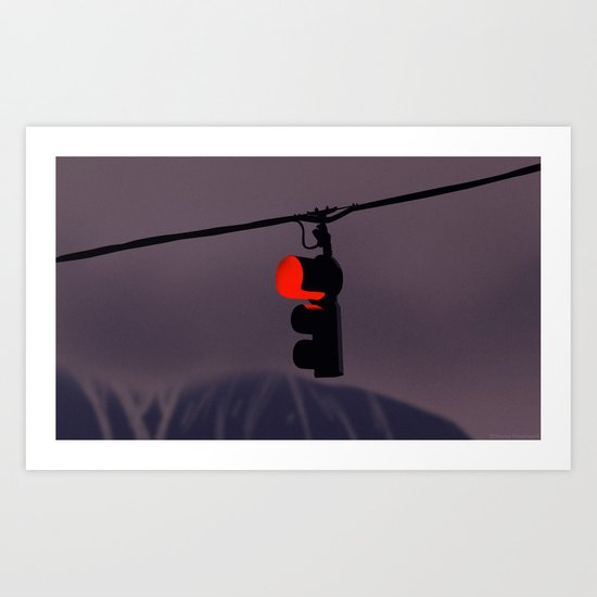 Traffic light Art Print