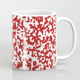 Small Spots - White and Firebrick Red Coffee Mug