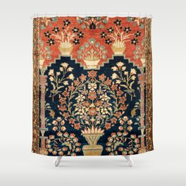 Kashan Poshti  Antique Central Persian Rug Print Shower Curtain