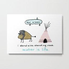 water is life. Metal Print