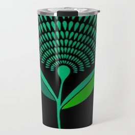 Mid Century Modern Dandelion Seed Head In Carnival Glass Travel Mug